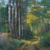 "Down the Piney Path Pastel, 11"" x 15"""