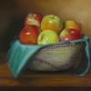"Apples in African Basket Oil, 11"" x 14"""