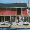 "Beals Lobster Pier Watercolor, 7.5"" x 11.25"""