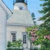 Lilac Time, Dyce Head Light Watercolor, 4 x 6""