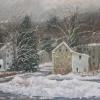 "Winter at Dilly's Corner Pastel, 16"" x 20"""