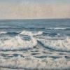"Tidal Churn, East Point Maine Pastel, 9"" x 12"""
